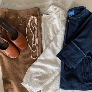Ann Taylor Brown Tweed Dress Pants Size 10